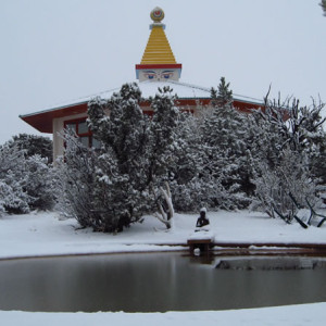 Stupa Pool Snow